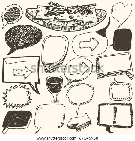 doodles set - speech
