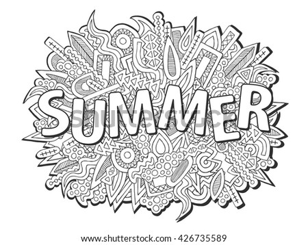 doodles summer vector summer