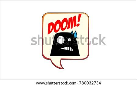doom icon inside bubble talk
