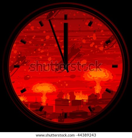 doomsday clock showing 3