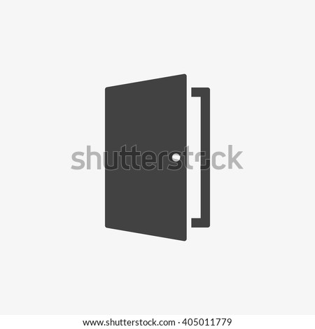 Shutterstock Door Icon in trendy flat style isolated on grey background. Open door symbol for your web site design, logo, app, UI. Vector illustration, EPS10.