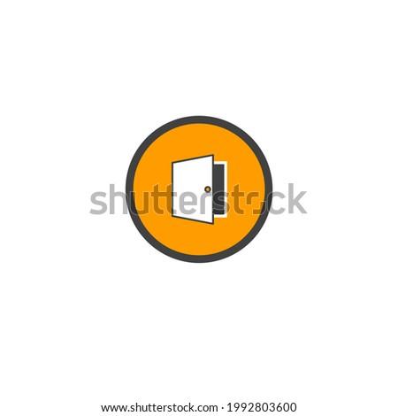 Door icon. Vector illustration for graphic design, Web, UI,
