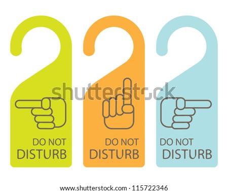 do not disturb vector signs download free vector art stock