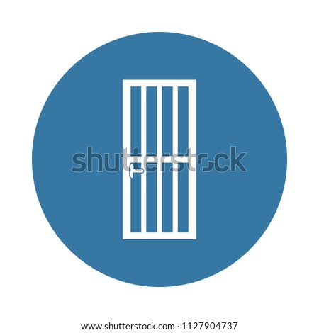door lattice icon. Element of door icons for mobile concept and web apps. Badge style door lattice icon can be used for web and mobile apps on white background