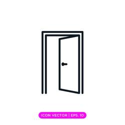 Door line icon vector design with editable stroke
