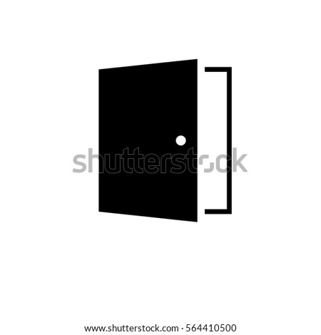 door line vector icon