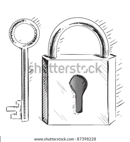 Lock And Key Sketch