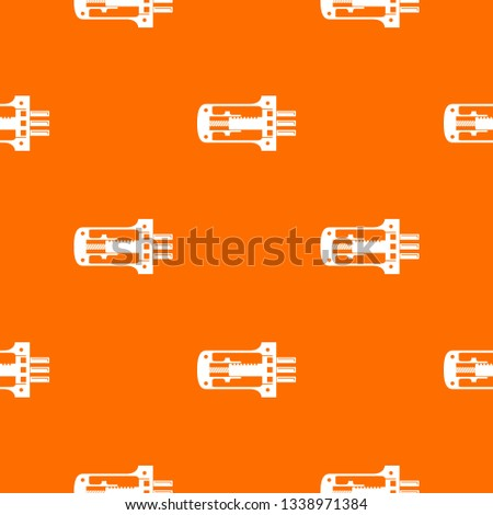 Door lock in section pattern vector orange for any web design best