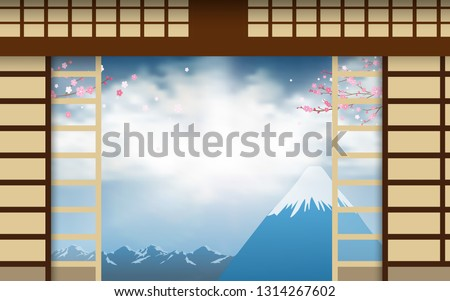 door of dojo with fuji mount