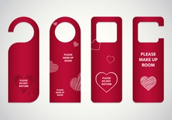 door tags with Valentine's day design