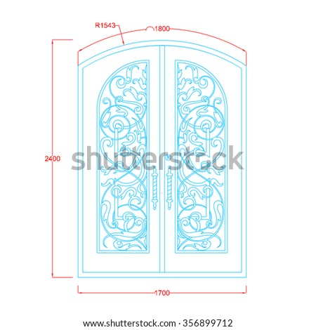 door vintage design double door ...