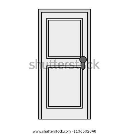 door wooden isolated icon #1136502848