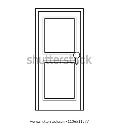 door wooden isolated icon #1136511377