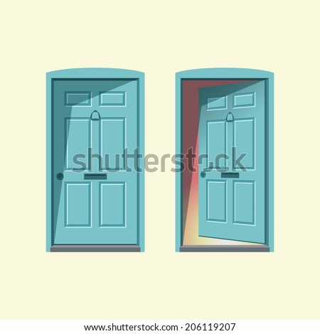 doors  closed and open