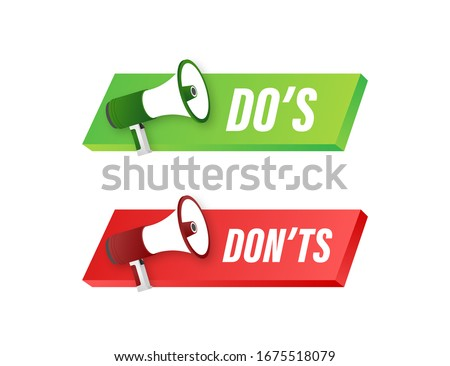 Dos and Donts like thumbs up or down. flat simple thumb up symbol minimal round logotype element set graphic design isolated on white. Vector stock illustration. Foto stock ©
