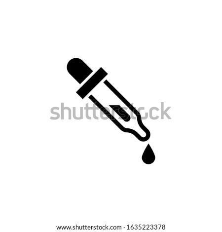 Dosage medical tool icon vector  in black flat shape design isolated on white background, icon illustration, eps 10 Stockfoto ©