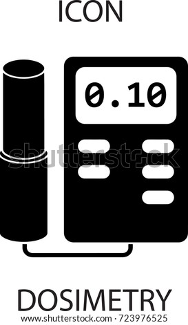 Dosimetry icon. Measurement of ionizing radiation