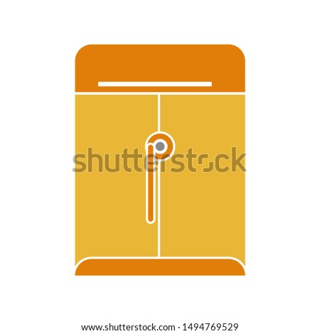 dossier folder icon. flat illustration of dossier folder - vector icon. dossier folder sign symbol