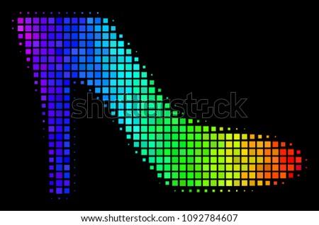 dot bright halftone lady shoe