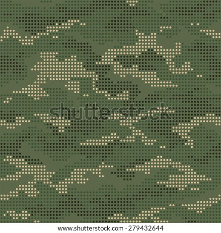 dot camouflage seamless pattern