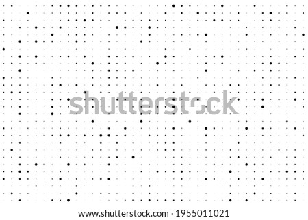 Dot grid. Seamless pattern. Subtle halftone patern. Small dots. Point texture. Digital background. Points design for prints. Rectangle black and white dotted pattern. Abstract  geometric dotty. Vector