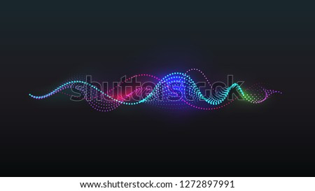 dot light spiral sound wave vector background
