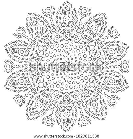Dot mandala white background 002 Stock photo ©