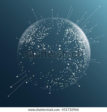 dot sphere effect