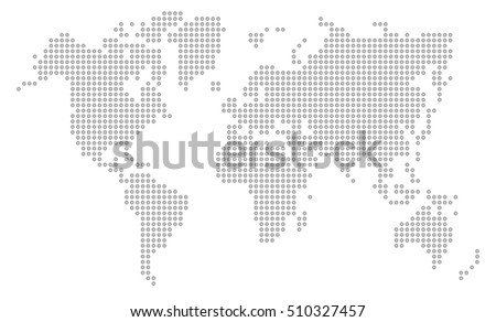 South america map in dotted illustration download free vector art dot world map gumiabroncs Images