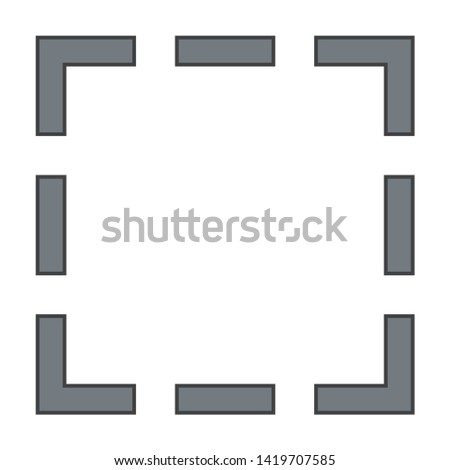 doted shape icon. flat illustration of doted shape vector icon for web