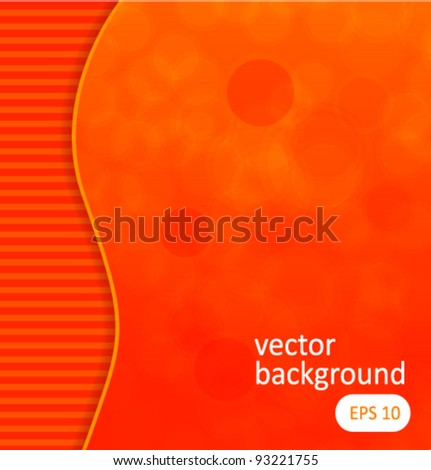Dots abstract background orange vector illustration