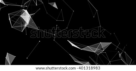 dots and triangles background