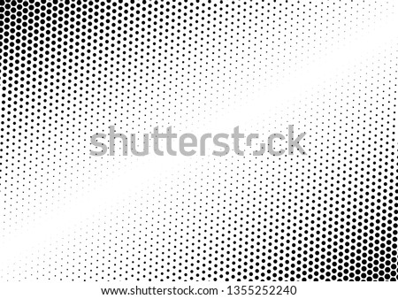 Dots Background. Black and White Backdrop. Halftone Modern Overlay. Fade Texture. Vector illustration