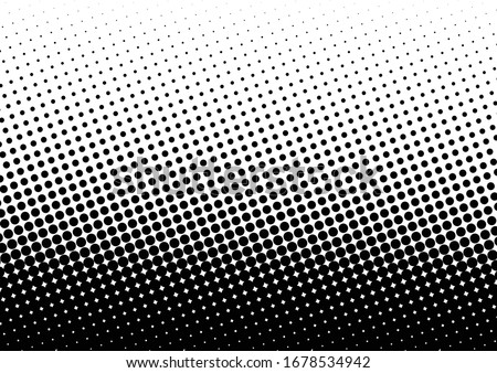 Dots Background. Distressed Texture. Pop-art Pattern. Black and White Overlay. Vector illustration Stock fotó ©