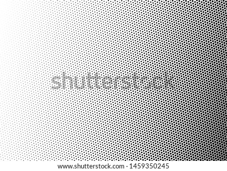 Dots Background. Gradient Pattern. Halftone Fade Backdrop. Black and White Distressed Texture. Vector illustration