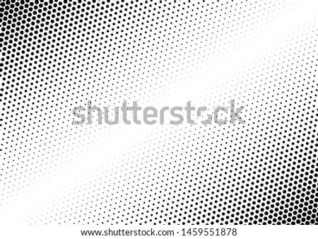 Dots Background. Grunge Points Backdrop. Distressed Vintage Pattern. Fade Monochrome Overlay. Vector illustration