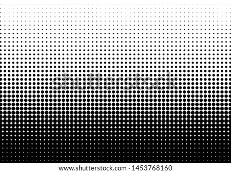 Dots Background. Monochrome Texture. Pop-art Pattern. Grunge Halftone Backdrop. Vector illustration