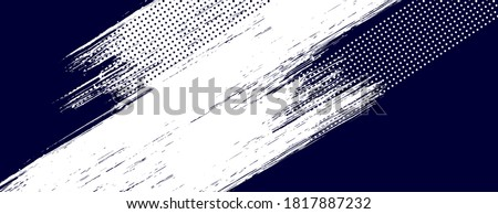 Dots halftone white & blue color pattern gradient grunge texture background. Dots pop art comics sport style vector illustration.