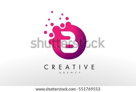 Shutterstock Dots Letter B Logo. B Letter Design Vector with Dots.