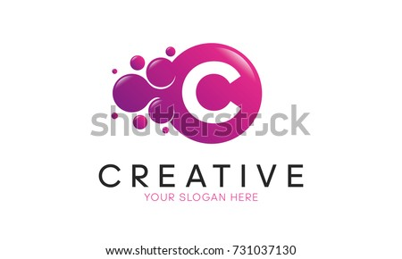 Dots Letter C Logo