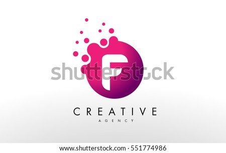 Dots Letter F Logo. F Letter Design Vector with Dots.
