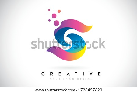 Dots Letter S Logo. S Letter Icon Design Vector with Dots. Vector Lettering Illustration of a Colorful Alphabet with Bubbles.