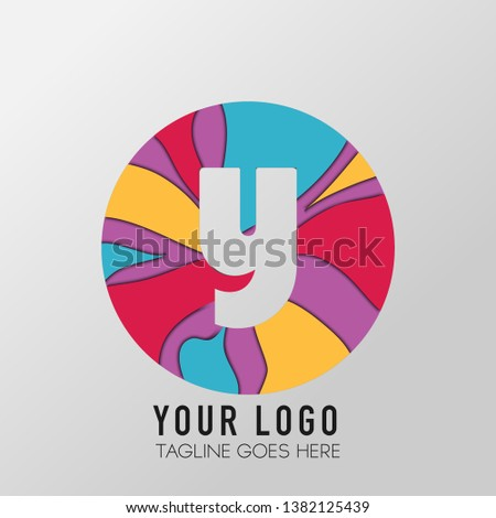 Dots Letter Y Logo. Y Letter Design Vector with Dots