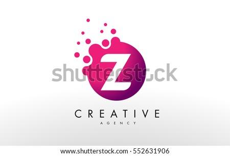 dots letter z logoz letter