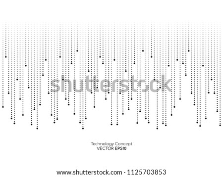 dots line drop pattern isolated