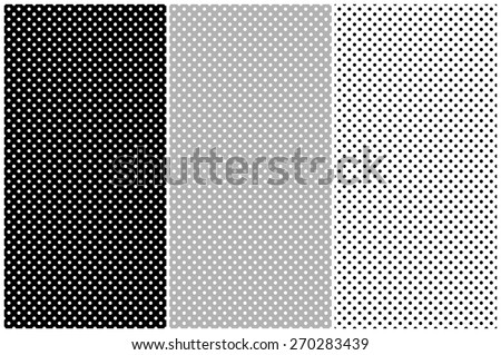 Dots pattern vector set