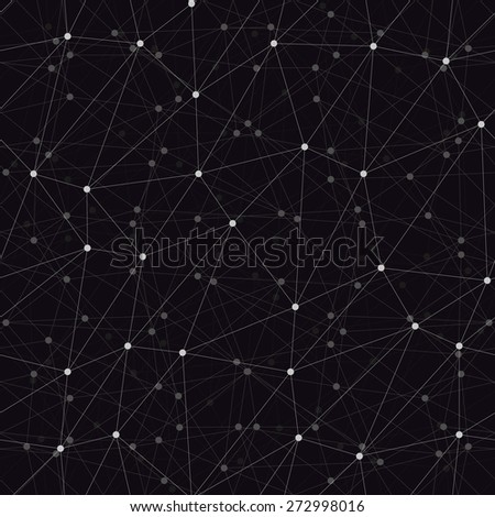 Dots with connections triangles dark background