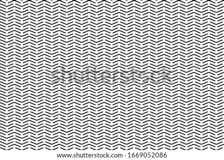Dotted abstract arrows seamless pattern. Tileable vector web background in black and white colors.