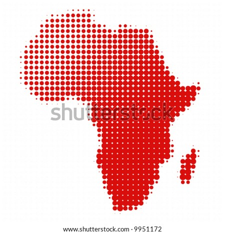 dotted africa - vector -