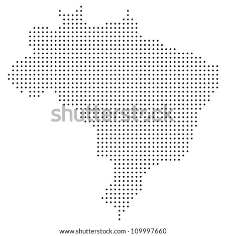 Dotted brazil map